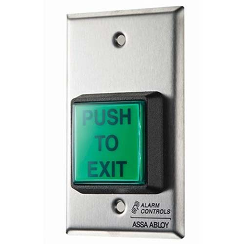 Alarm Controls Request to exit button